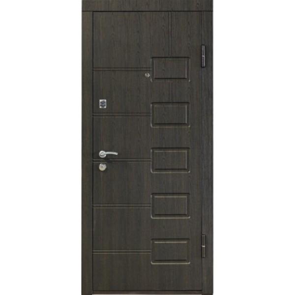 Входная металлическая дверь ПО-21 венге структурный