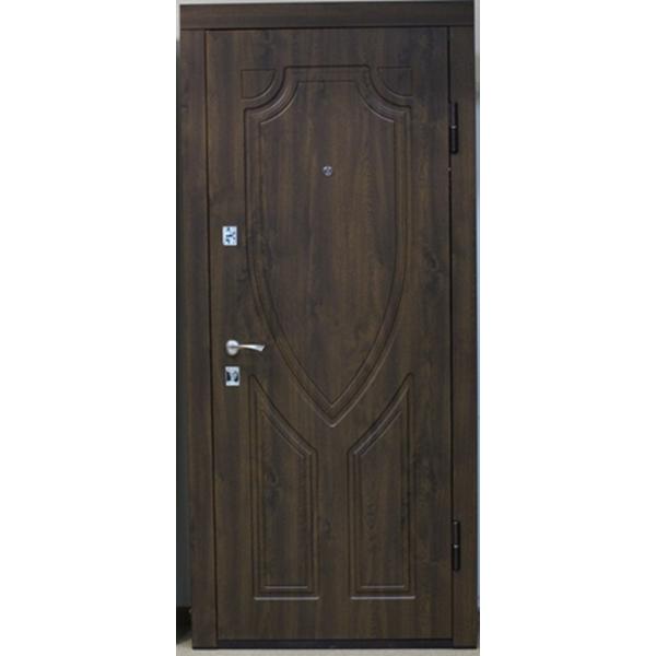 Входная металлическая дверь Дуб тёмный Vinorit 864