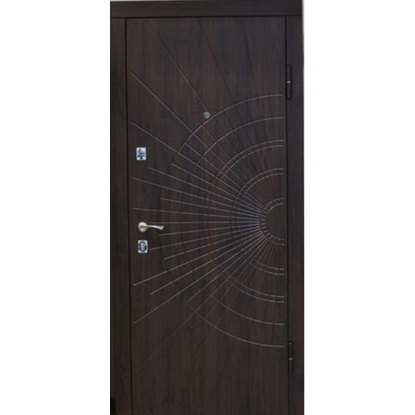 Входная металлическая дверь Орех коньячный 817