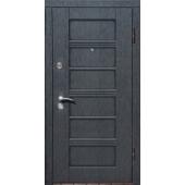 Входная металлическая дверь ПК 26 Скол черный/ белый  МДФ 16