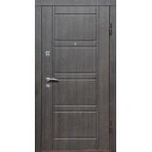 Входная металлическая дверь ПО 09 Венге структурный / беленый дуб