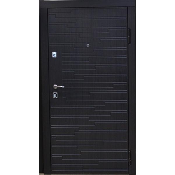 Входная металлическая дверь Венге тёмный Vinorit 866