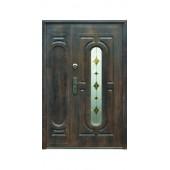 Входная металлическая дверь Тёплый нестандарт 240+ (1 стекло)